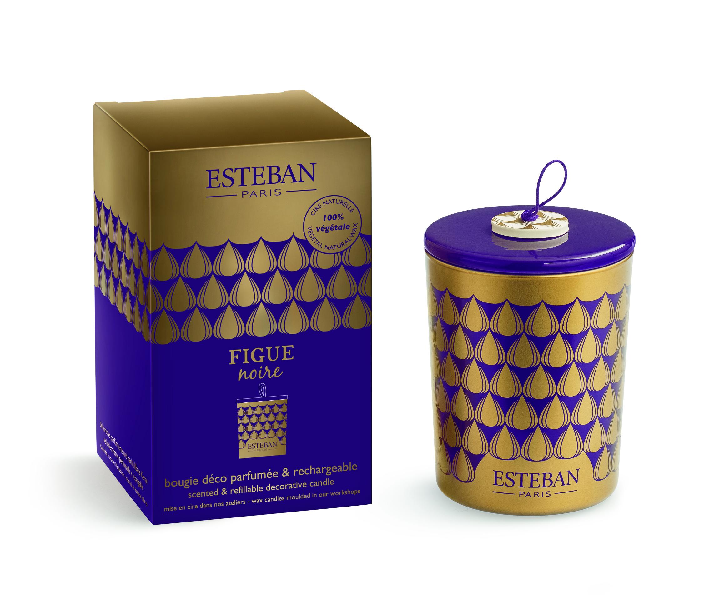 Bougie Decorative Et Rechargeable Parfumee Figue Noire Esteban