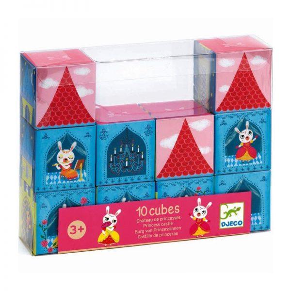 10 cubes chateau princesse Djeco