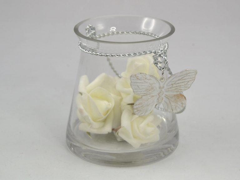 photophore papillon en verre