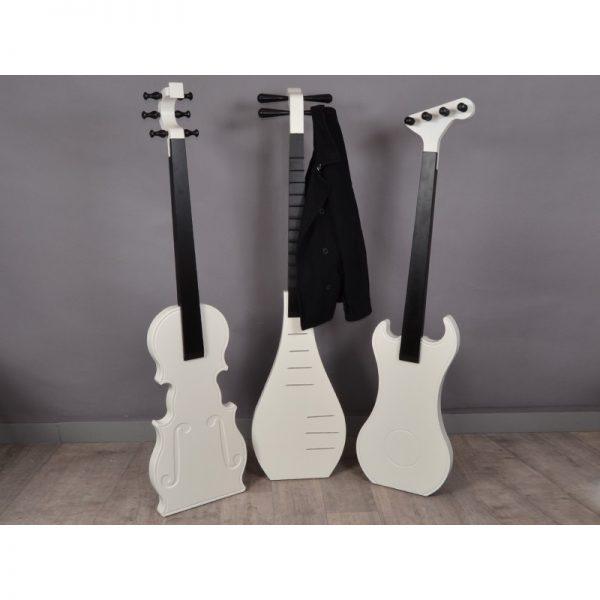 Porte manteau original en forme de guitare esprits bois 48 - Porte manteau original ...