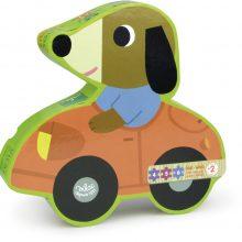 puzzle voiture chien