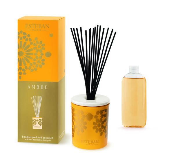 bouquet decoratif parfume ambre